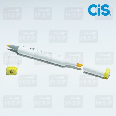 MARCADOR CIS GRAF DUO 2 PONTAS COD.35 LEMON YELLOW