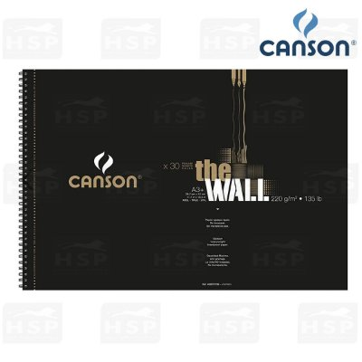 BLOCO CANSON THE WALL 220 GR A3+ 30 FOLHAS