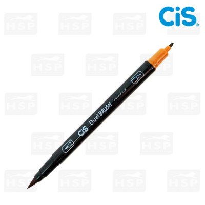 MARCADOR CIS DUAL BRUSH 2 PONTAS AQUARELÁVEL OCRE