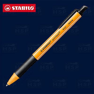 CANETA STABILO POINTBALL 6030/46 PRETA