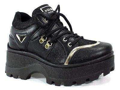 Tênis Feminino Tratorado Chunky Sneaker Quiz - Preto