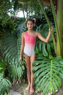 Maiô Infantil Pajuçara - Lotus Rosê