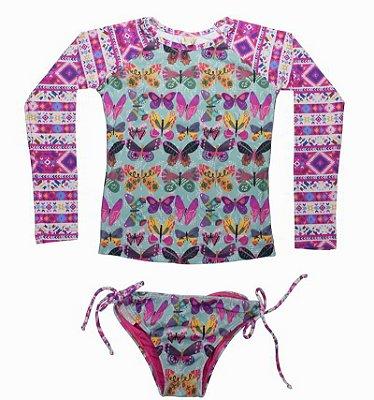 UbI-Kit Camisa e Calcinha Infantil Belize - Lisa/Jolie