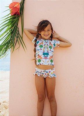 UaA-Kit Camisa e Calcinha Bebê Mila - Jade