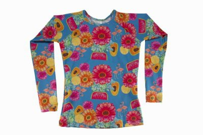 Camisa UV Infantil Menina Manga Longa Kailua - Pua