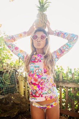 Camisa UV Infantil Menina Manga Longa Kailua - Daisy