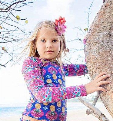 Camisa UV Infantil Menina Manga Longa Kailua - Iris