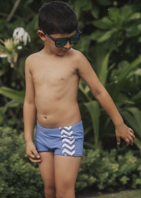 Sunga Infantil Canggu - Azul/Sol