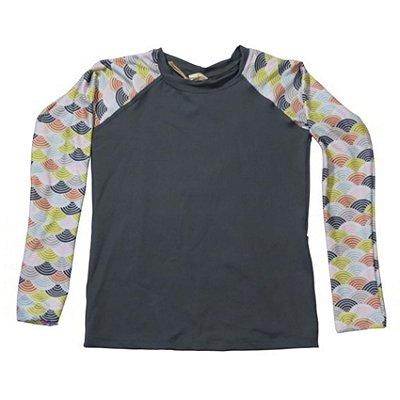 Camisa UV Infantil Menino Manga Longa Zuma - Cinza/Tim