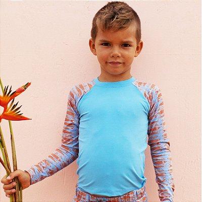 Camisa UV Infantil Menino Manga Longa Zuma - Maldivas/Theo