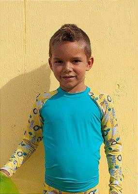 Camisa UV Infantil Menino Manga Longa Zuma - Tahiti/Lee