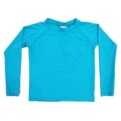 Camisa UV Infantil Menino Manga Longa Leon - Turquesa