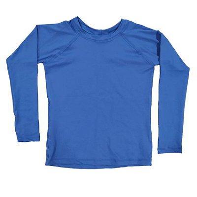 Camisa UV Infantil Menino Manga Longa Leon - Azul
