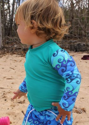 Camisa UV Infantil Menino Manga Longa Zuma - Verde/Noah