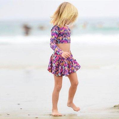 Short Saia Infantil Santa Barbara - Iris/Lana