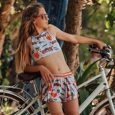 Short Saia Infantil Santa Barbara - Mia/Lili