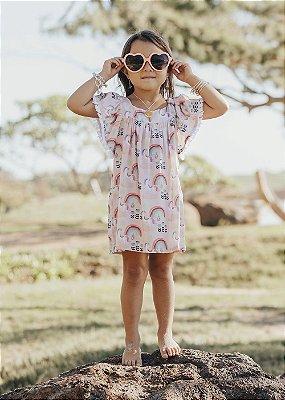 VcL-Vestido Infantil Estampado Honolua - Rosy