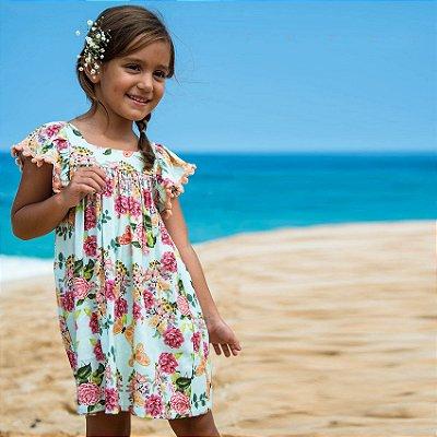 Vestido Infantil Estampado Honolua - Dhalia