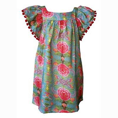 Vestido Infantil Estampado Honolua - Lila