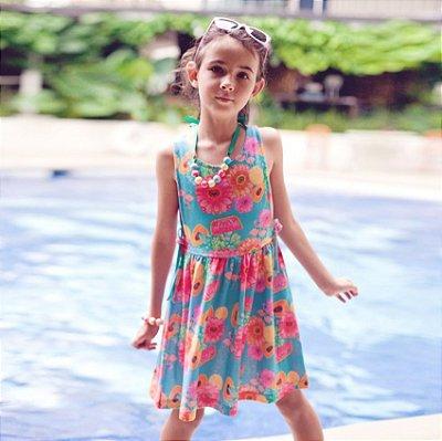Vestido Infantil Estampado Oasis - Pua