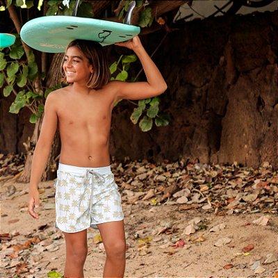 Bermuda Infantil Masculina Estampada Kai - Palms
