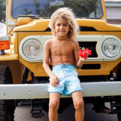 Bermuda Infantil Masculina Estampada Kai - Sky