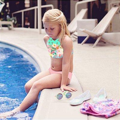 Biquíni Infantil Estampado Monterrey - Paradise/Pink Dot