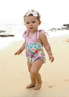 Maiô Bebê Estampado Hermosa - Paradise/Pink Dot