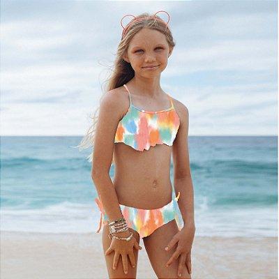 Biquíni Infantil Estampado Lei - Rainbow