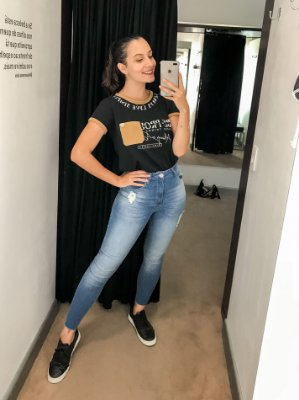CALÇA SKINNY CROPPED A FIO JEANS | All Is Love