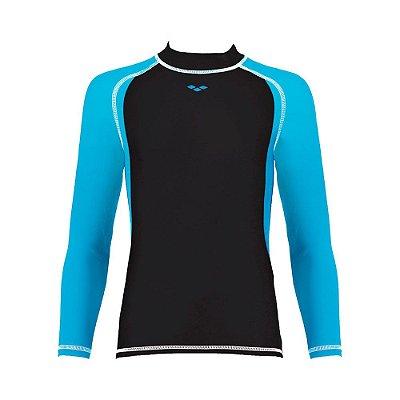 Camiseta Infantil Fem De Manga Longa Arena Carbon UV Girl Long Sleeve
