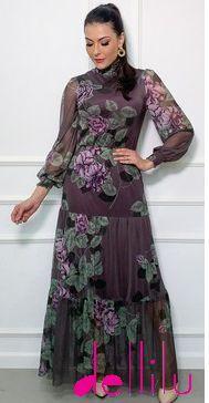 Vestido Tule  Floral  - 11009