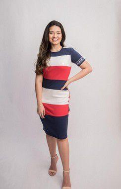 Vestido  Recorte  Color - 2323
