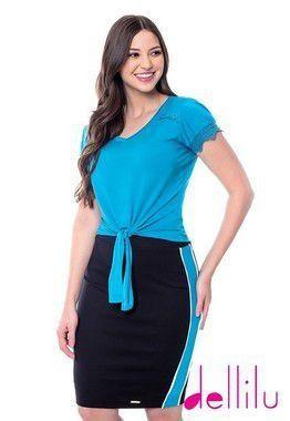 Conjunto Luciana Hapuk Azul Claro - 49154