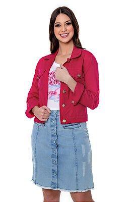 Jaqueta Jeans Colorida Pink Lavínia Hapuk - 21152