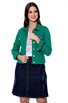 Jaqueta Jeans Colorida Verde Lavínia Hapuk - 21152