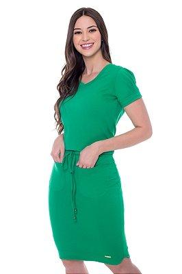 Vestido Malha Cotton Verde Taissa Hapuk - 60502