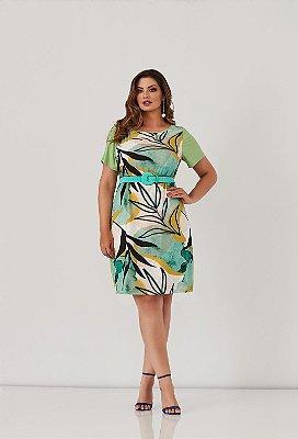 Vestido Estampado Em Crepe Realist Plus - 1240088