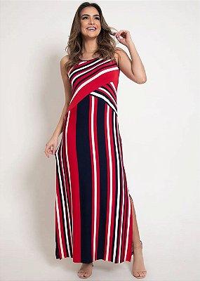 Vestido Regata Longo Com Recortes E Fendas Laterais Plus - 616
