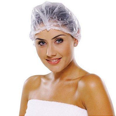 Touca plástica para banho - 12 unid.