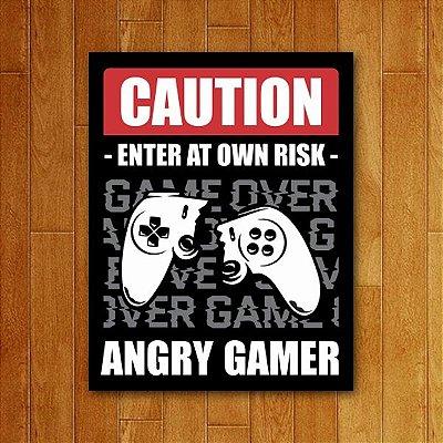 Placa Decorativa Angry Gamer (V2)