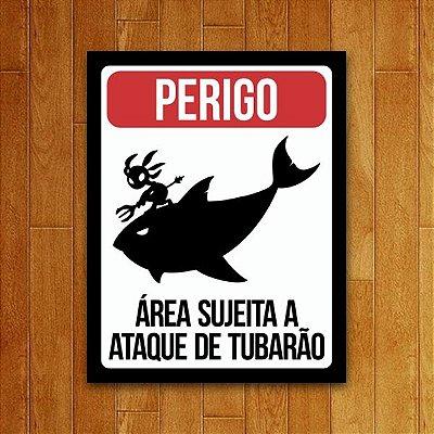 Placa Decorativa Ataque De Tubarão