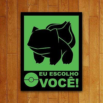 Placa Decorativa Eu Escolho Você - Verde