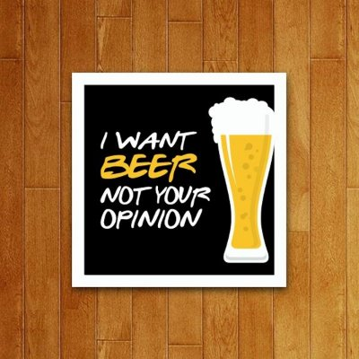 Placa Decorativa I Want Beer