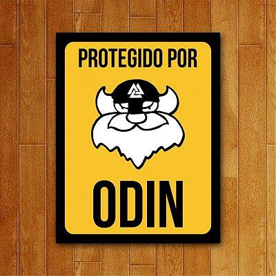 Placa Decorativa Protegido por Odin - Um Sábado Qualquer
