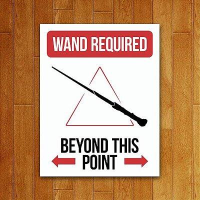 Placa Decorativa Wand Required