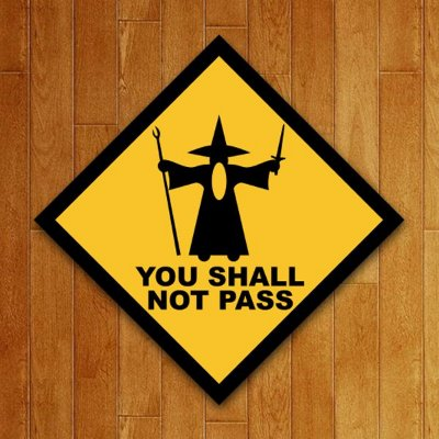 Placa Decorativa You Shall Not Pass
