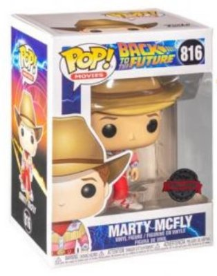 POP Funko - Marty Mcfly Cowboy exclusivo #816