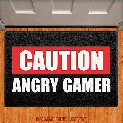 Capacho Caution Angry Gamer