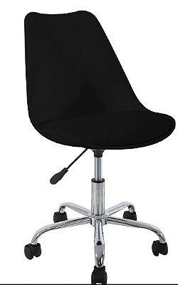 Cadeira Secretaria Anm606pp Assento Estofado Cor Preto